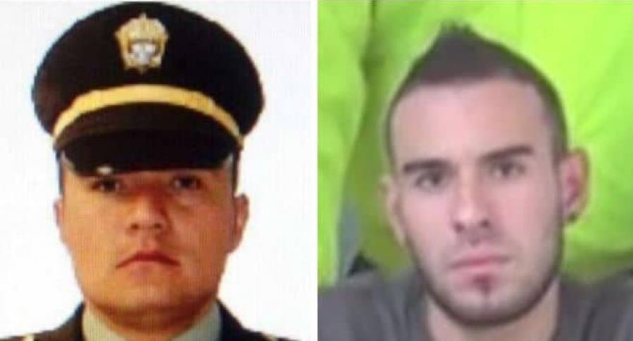 Intendente Martín Cardozo Marín y su agresor Ricardo Vélez Cardona