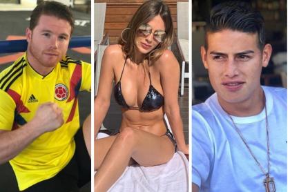 Saúl 'Canelo' Álvarez, Shannon de Lima y James Rodríguez