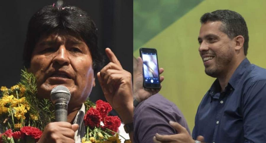 Evo Morales y Rodrigo Amorim