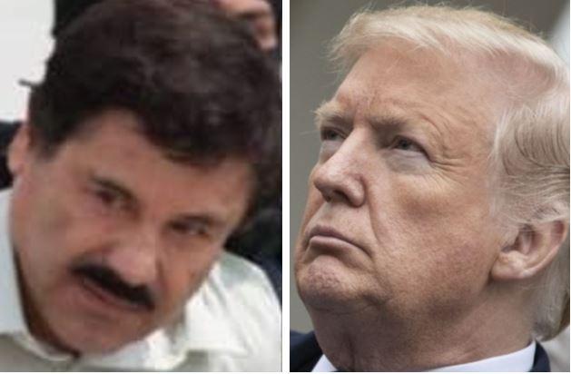 Joaquín-El-Chapo-Guzman-narcotraficante-y-Donald-Trum-presidente-de-Estados-Unidos