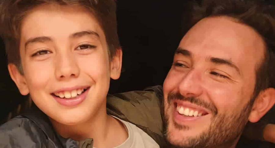Sebastián Martínez y su hijo, Amador