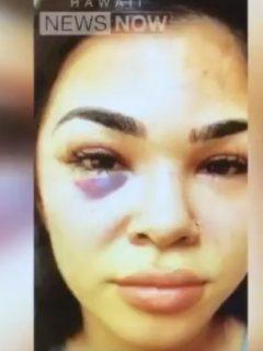 Luchadora golpeada