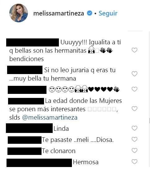 Comentarios post Melissa Martínez
