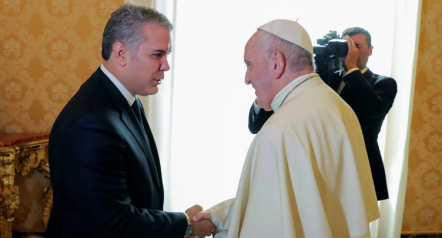 Iván Duqe y el papa