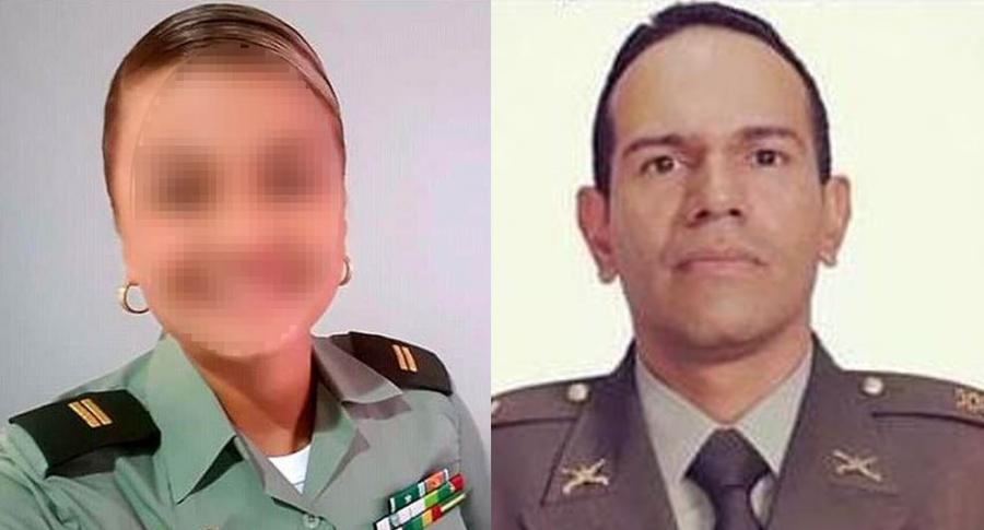 Teniente Kelly Sierra y capitán Eduardo Merchán