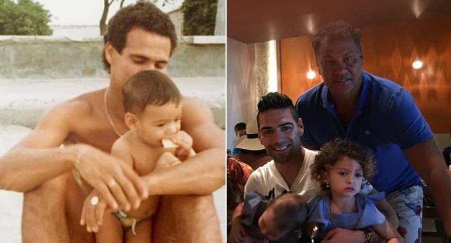 Radamel García King, exfutbolista, con su hijo Radamel Falcao García Zárate, futbolista.