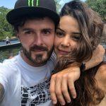 'Tatán' Mejía, motocrosista, y su esposa 'Maleja' Restrepo, actriz.