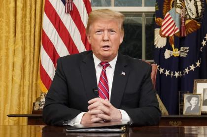 Donald Trump, en su discurso a la nación
