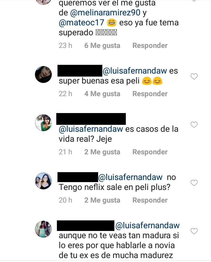 Comentarios post Melina Ramírez