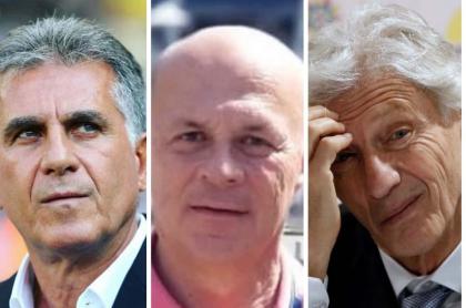 Carlos Queiroz, Carlos Antonio Vélez y José Pékerman