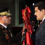 Vladimir Padrino y Nicolás Maduro