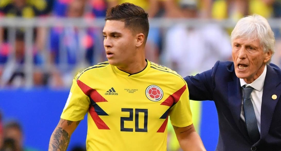 Juan Fernando Quintero y José Pékerman
