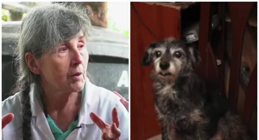 Esneda Osorio, cuidadora de animales.