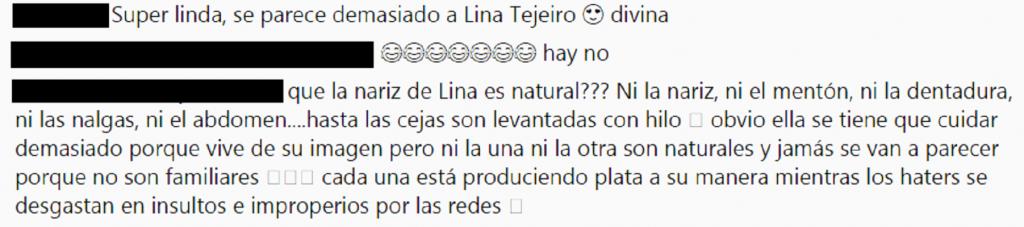 Comentarios a foto de Yina