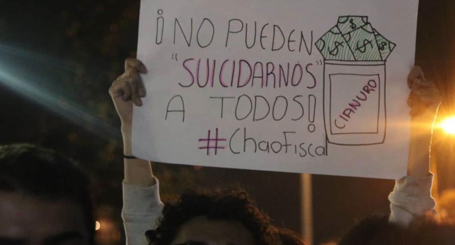 Marcha contra fiscal Martínez