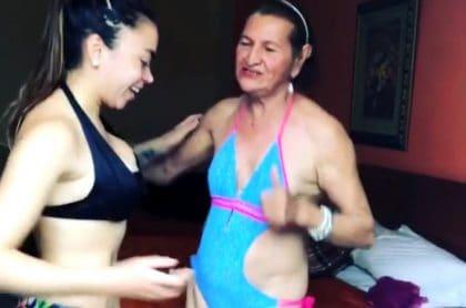 Video Abuela De Epa Colombia En Vestido De Baño Resultó