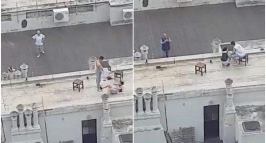 Woman climax pee