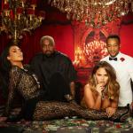 Kim Kardashian, Kanye West, Chrissy Teigen y John Legend