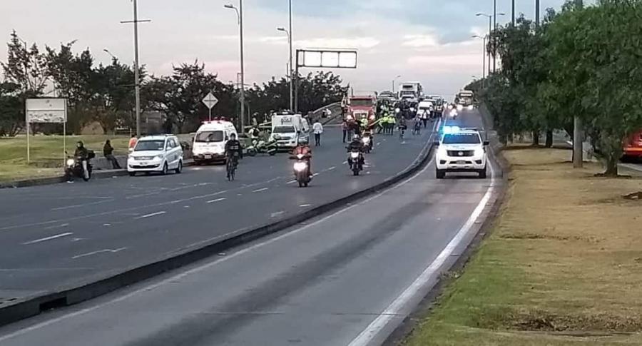 Muerte de ciclista en la avenida Las Américas con carrera 68