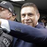 Humberto Guatibonza, el día de su arresto