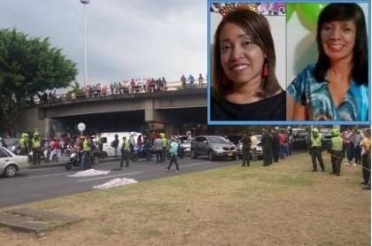 Accidente en Cali en el que murieron mamá e hija