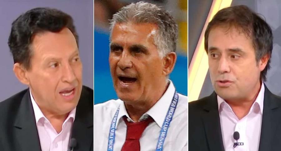 Óscar Rentería, Carlos Queiroz y César Augusto Londoño