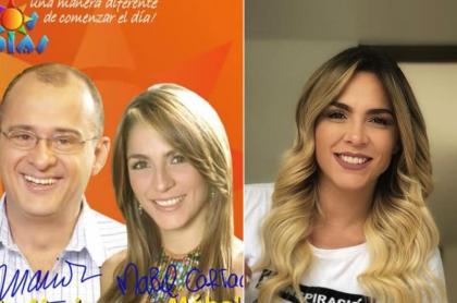 Jota Mario Valencia y Mabel Cartagena, presentadores.