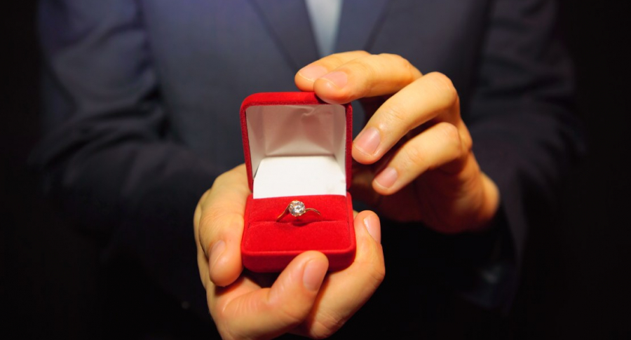Propuesta de matrimonio.