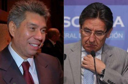 Daniel Coronell y el fiscal Néstor Humberto Martínez