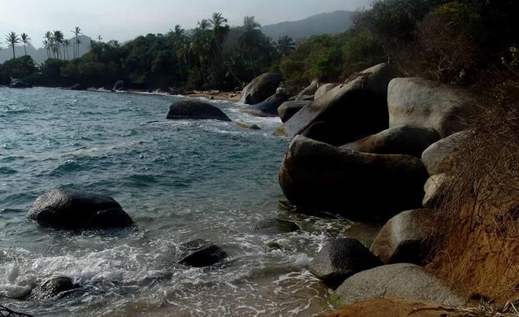 Zona costera del Parque Tayrona
