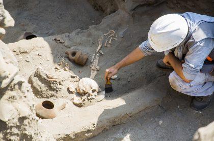 Hallazgo de restos precolombinos en Perú