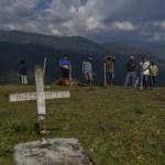 Familiares de líder social asesinado en el Cauca.