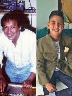 El cantante Diomedes Díaz, su nieto 'Martincito' y su hijo Martín Elías.