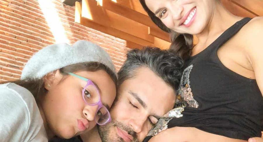 Fabián Ríos, Yuly Ferreira y su hija