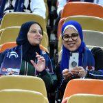 Mujeres en las graderías del estadio Rey Abdullah