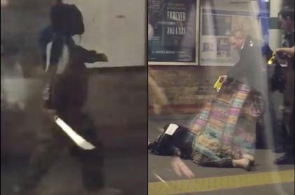 Hombre con machete