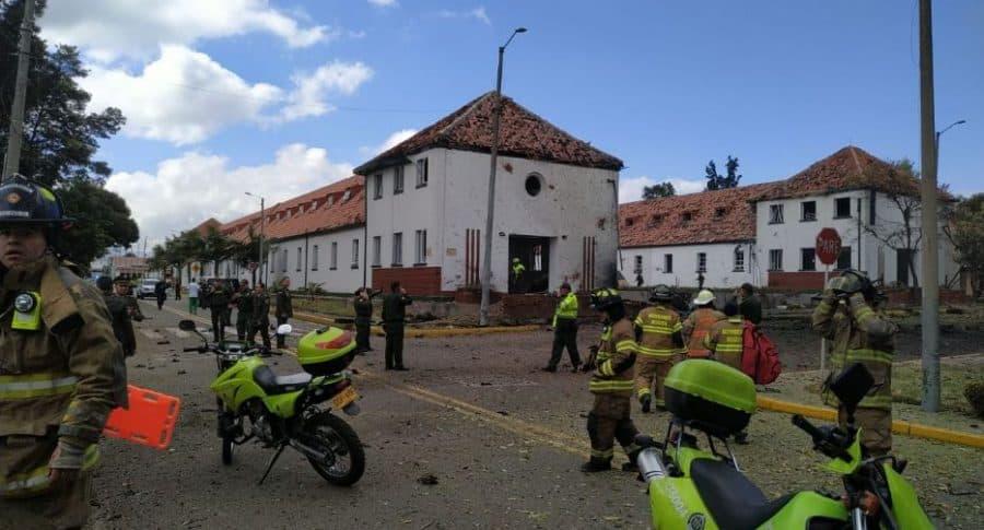 Escena de explosión Escuela General Santander