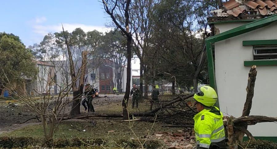 Atentado terrorista en Escuela de Cadetes de la Policía General Santander