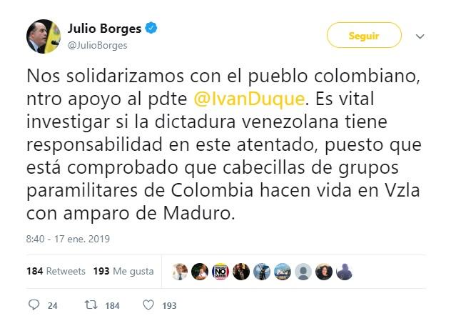 Tuit Julio Borges