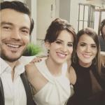 Luciano D'Alessandro, Laura Londoño, Laura de León y Mario Espitia, actores.