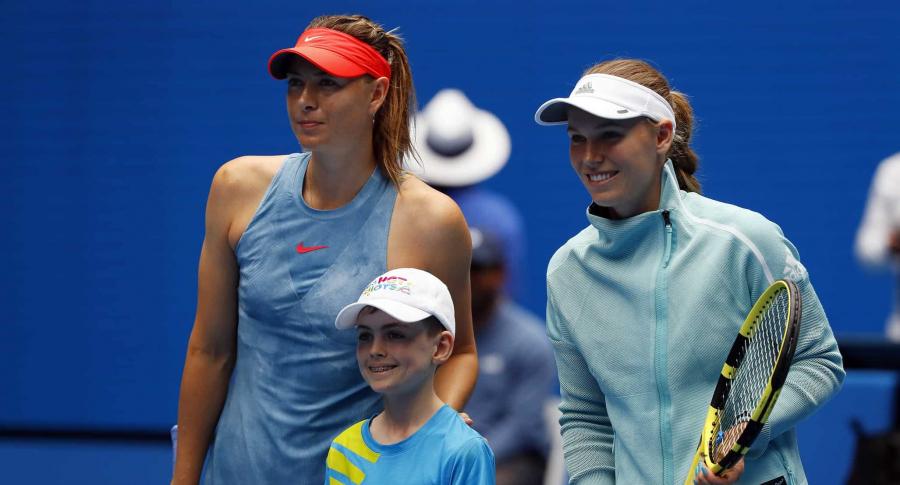 Maria Sharapova y Caroline Wozniacki