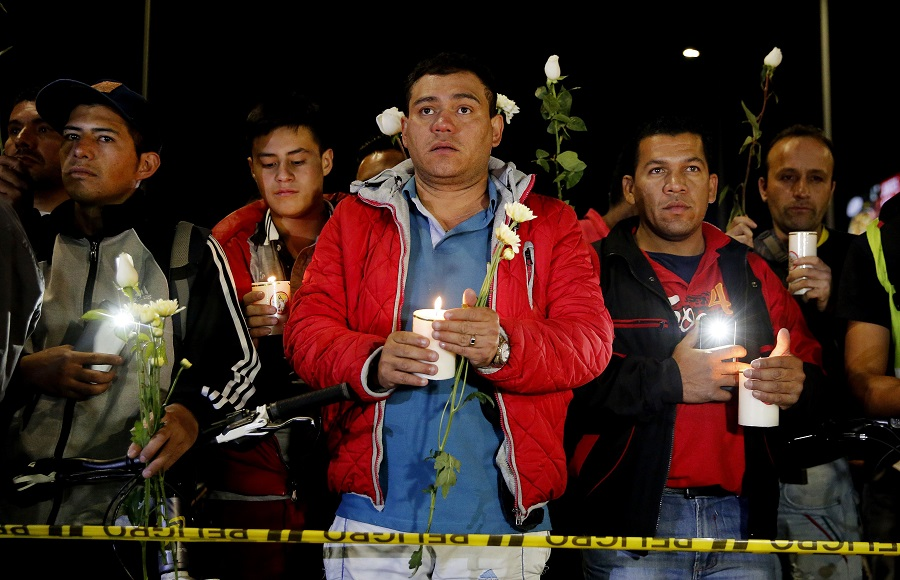 Vigilia en la Escuela de Cadetes General Santander