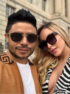 Daniel Calderón, cantante, y Anita Beleño, modelo.