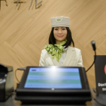 Recepcionista robot japonesa