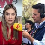 Andrea Guerrero, Vicky Dávila y Luis Carlos Vélez, periodistas.