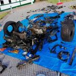 Carro usado en atentado a Escuela General Santander