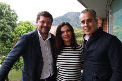 Julio César Herrera, Ana María Orozco y Jorge Enrique Abello, actores.