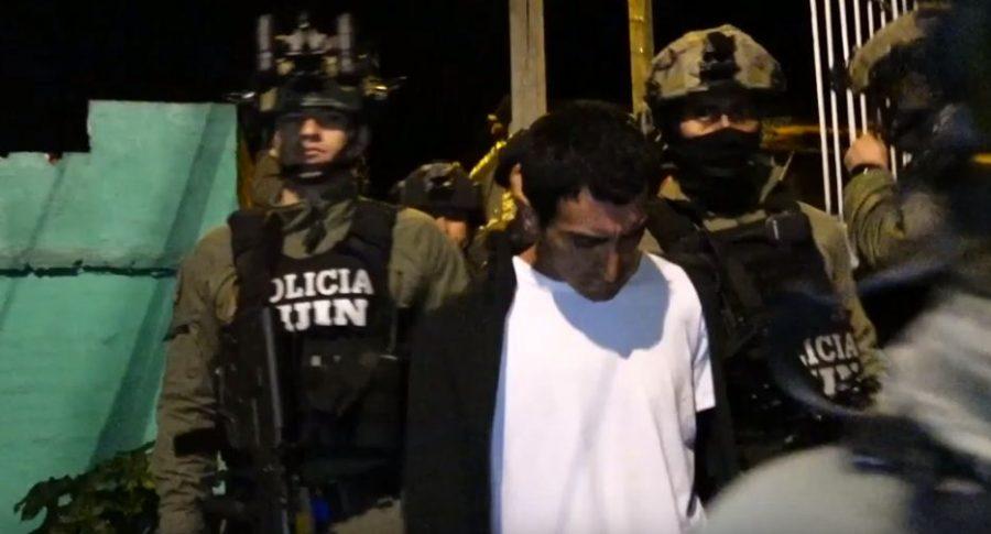 Captura de Ricardo Andrés Carvajal Salgar, r, involucrado en atentado en la Escuela General Santander.