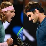 Stefanos Tsitsipas y Roger Federer