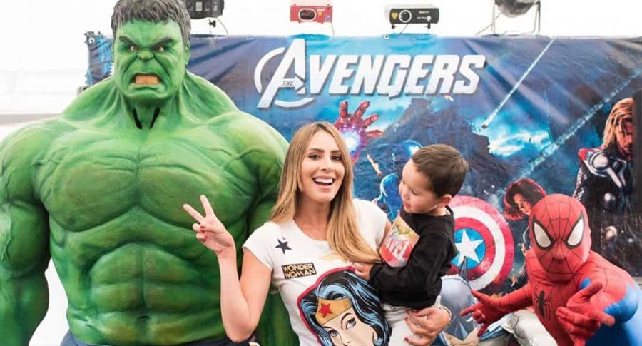Carolina Soto festejando los 2 años de su hijo Valentino